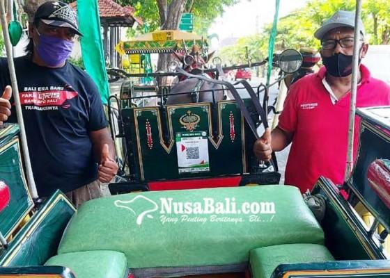 Nusabali.com - naik-dokar-bisa-bayar-pakai-qris