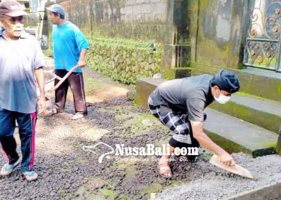 Nusabali.com - desa-muncan-gelar-pkt-jalan-beton