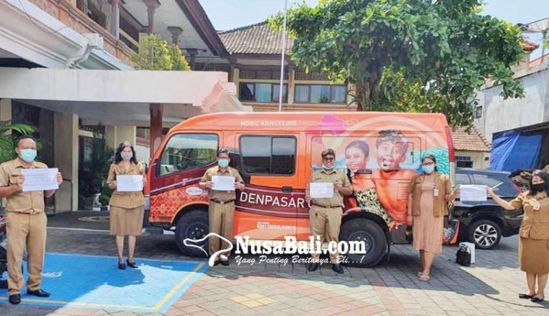 www.nusabali.com-mobil-konseling-denpasar-ceria-kini-untuk-sosialisasi-covid-19
