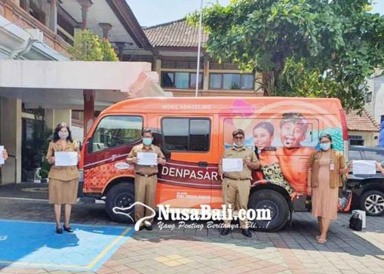 Nusabali.com - mobil-konseling-denpasar-ceria-kini-untuk-sosialisasi-covid-19
