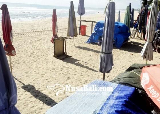 Nusabali.com - pembukaan-lapak-pedagang-di-pantai-kuta-batal