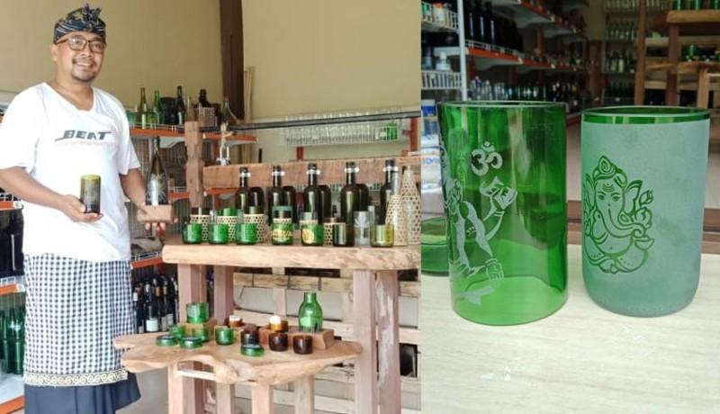 www.nusabali.com-berawal-dari-iseng-sukses-sulap-botol-kaca-bekas-jadi-gelas-unik-dan-cantik