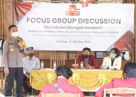 Nusabali.com - polres-badung-gelar-forum-dialog-berdemonstrasi-di-tengah-pandemi