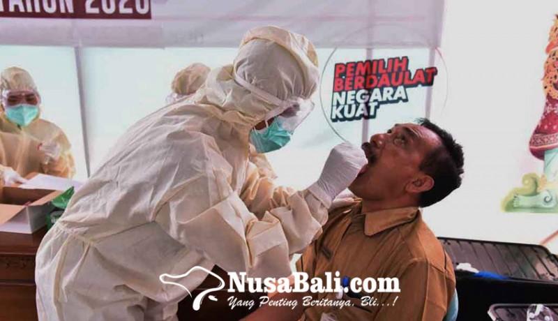 www.nusabali.com-jelang-coblosan-kpu-karangasem-dan-jajaran-jalani-uji-swab