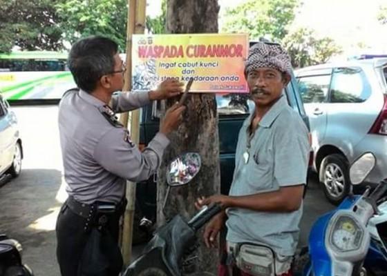 Nusabali.com - polsek-pasang-imbauan-waspadai-curanmor