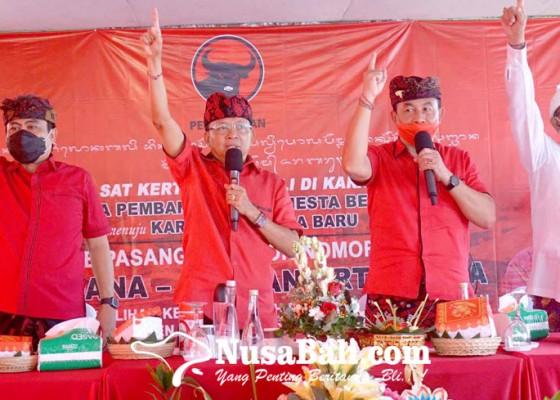 Nusabali.com - kampanyekan-dana-dipa-koster-menggebrak-kecamatan-kubu
