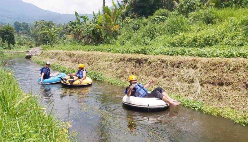 www.nusabali.com-desa-babahan-kembangkan-wisata-tubing-dengan-panjang-rute-900-meter