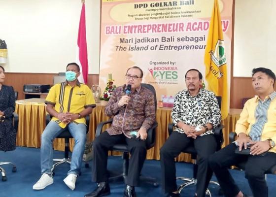 Nusabali.com - di-tengah-pandemi-golkar-launching-bali-entrepreneur-academy