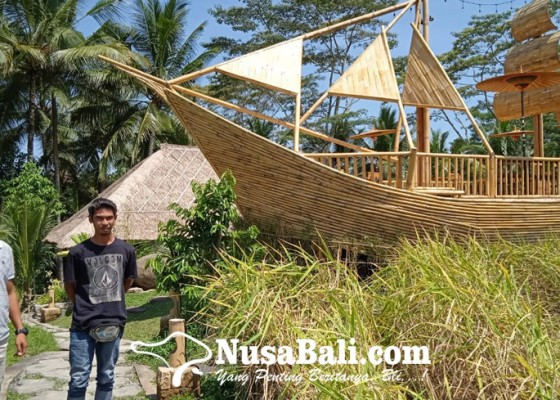Nusabali.com - dilengkapi-perahu-bambu-dan-rumah-bali-nguni-sebagai-ikon