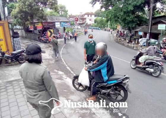 Nusabali.com - tim-yustisi-denpasar-kembali-sidak-masker-19-terjaring