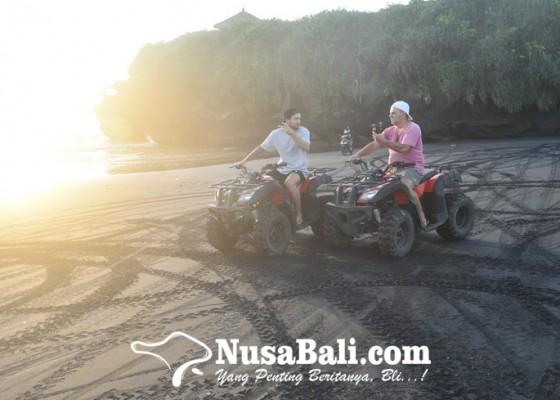 Nusabali.com - wisata-atv-bupda-desa-kelating-nikmati-panorama-sawah-dan-sunset