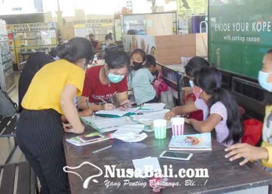 Nusabali.com - kawasan-kuliner-berubah-jadi-kelas-belajar