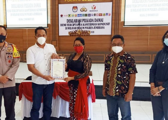 Nusabali.com - tim-pemenangan-paslon-di-jembrana-deklarasikan-pilkada-damai