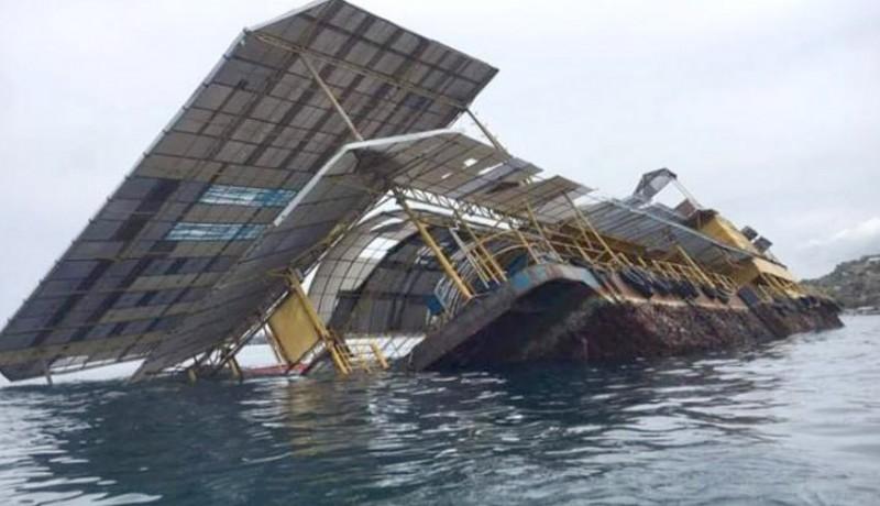www.nusabali.com-mengkarat-ponton-tenggelam-sebagian
