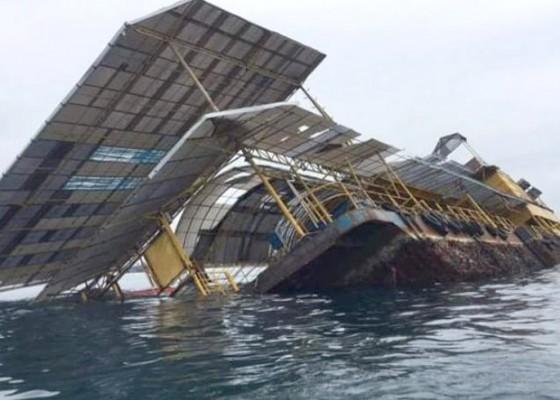 Nusabali.com - mengkarat-ponton-tenggelam-sebagian