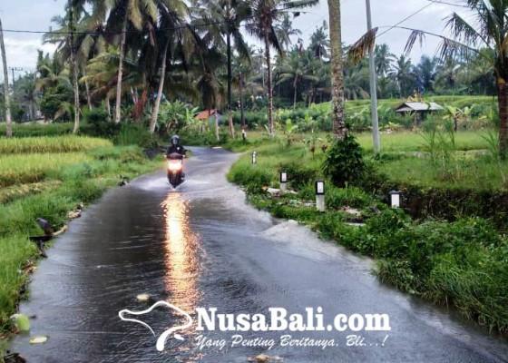 Nusabali.com - jalan-griya-tegalalang-tergenang-air