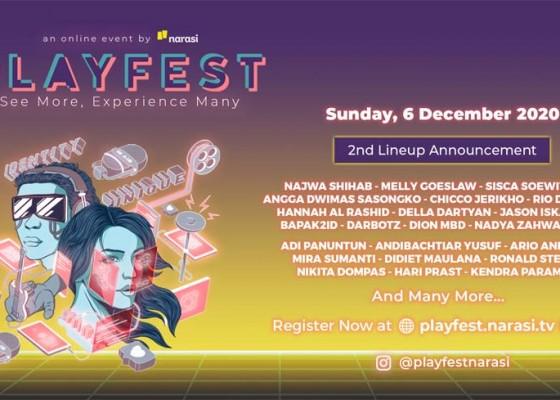 Nusabali.com - tumpah-ruah-mulai-dari-conference-konser-virtual-bioskop-virtual-hingga-art-gallery-virtual-di-playfest-2020