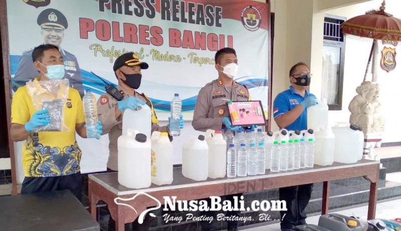 www.nusabali.com-operasi-cipkon-agung-polres-bangli-amankan-ratusan-liter-arak