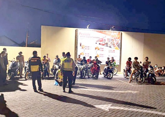 Nusabali.com - balap-liar-31-remaja-diamankan-polisi