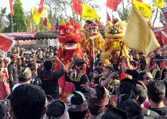 Nusabali.com - 122-baleganjur-meriahkan-kampanye-akbar-giriasa
