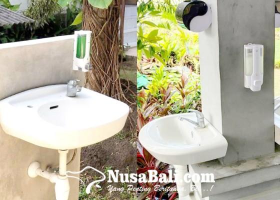 Nusabali.com - puluhan-tempat-cuci-tangan-dan-hand-sanitizer-disiapkan