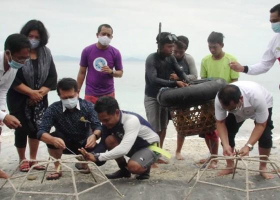 Nusabali.com - bupati-suwirta-adopsi-karang-di-desa-ped