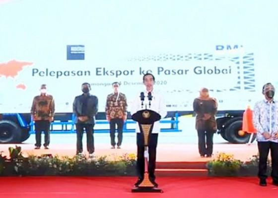 Nusabali.com - jokowi-lepas-ekspor-ke-pasar-global