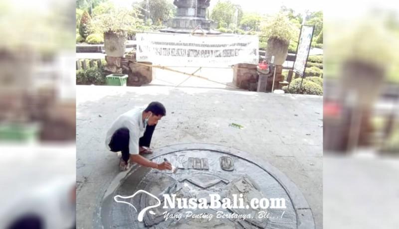 www.nusabali.com-rusak-titik-nol-kilometer-denpasar-diperbaiki
