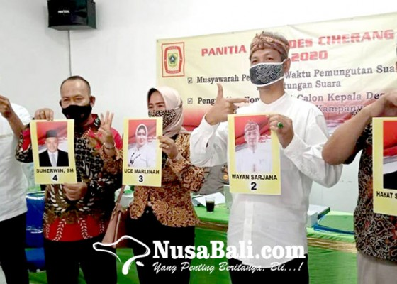 Nusabali.com - coblosan-pilkades-di-bogor-wayan-sarjana-yakin-unggul