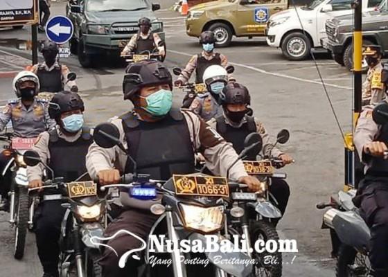 Nusabali.com - jelang-nataru-polres-gianyar-patroli-gabungan-berskala-besar