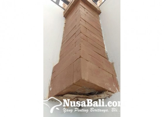 Nusabali.com - finishing-smpn-14-denpasar-tidak-rapi
