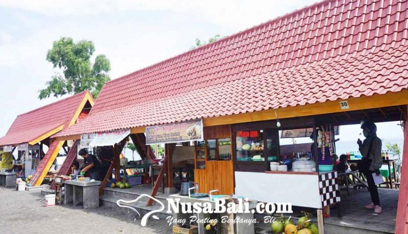 www.nusabali.com-pedagang-masih-gratis-tempati-objek-wisata-yehmalet