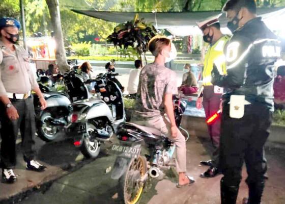 Nusabali.com - jelang-tahun-baru-polres-jembrana-razia-motor-berknalpot-brong