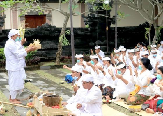 Nusabali.com - purnamaning-kapitu-pegawai-pemkab-jembrana-nunas-ica-di-pura-niti-praja