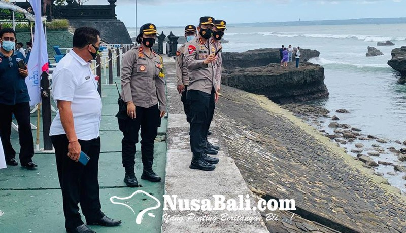 www.nusabali.com-kapolda-sidak-prokes-ke-pantai-echo-beach