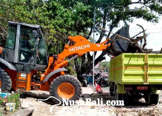 Nusabali.com - dinas-lhk-kerahkan-600-personel-40-truk-5-alat-berat-dan-2-unit-beach-cleaner