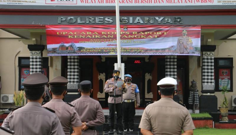 www.nusabali.com-awal-2021-puluhan-polisi-polres-gianyar-naik-pangkat