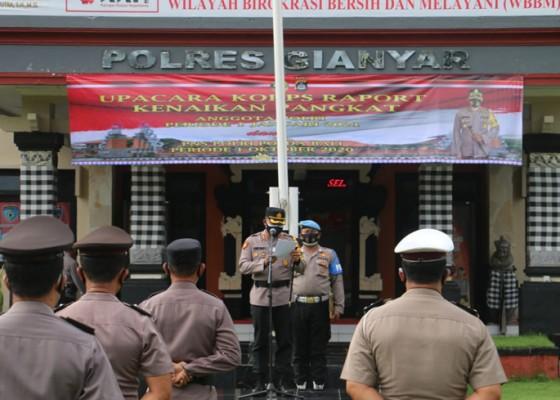 Nusabali.com - awal-2021-puluhan-polisi-polres-gianyar-naik-pangkat