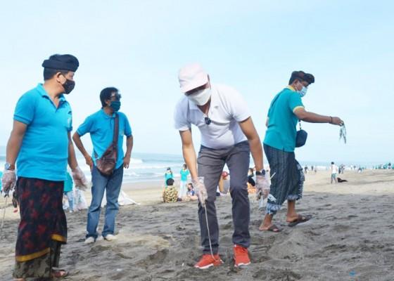 Nusabali.com - wabup-suiasa-pimpin-aksi-bersih-bersih-di-pantai-petitenget