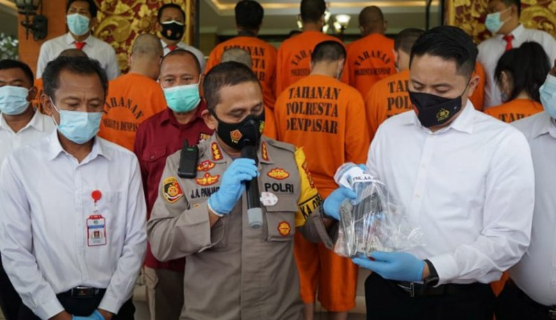 www.nusabali.com-polresta-denpasar-amankan-purnawirawan-simpan-senjata-api-ilegal
