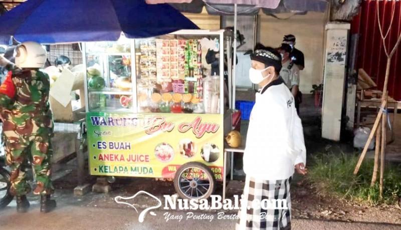 www.nusabali.com-sidak-prokes-di-denpasar-utara-3-warung-di-warning