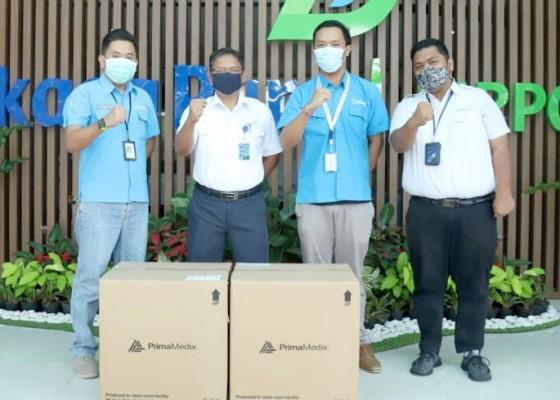 Nusabali.com - ap-i-dapat-sumbangan-4000-masker-untuk-petugas-dan-pengguna-jasa