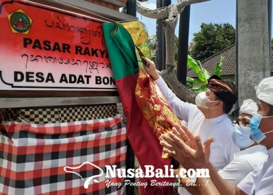 Nusabali.com - bangunan-pasar-bona-diresmikan