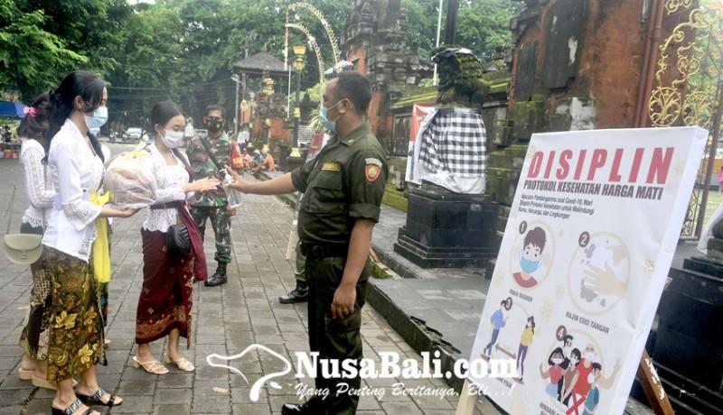 www.nusabali.com-persembahyangan-pagerwesi-di-pura-jagatnatha-denpasar-dibatasi