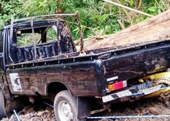 Nusabali.com - hindari-motor-pickup-jatuh-ke-jurang