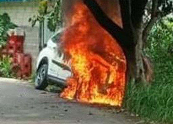 Nusabali.com - mobil-terbakar-di-nusa-penida-tiga-orang-nyaris-terpanggang