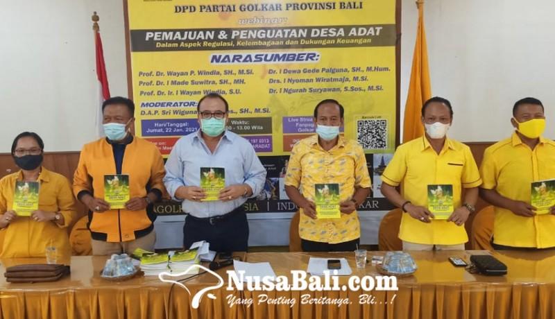 www.nusabali.com-golkar-bali-terbitkan-buku-pemajuan-dan-penguatan-desa-adat