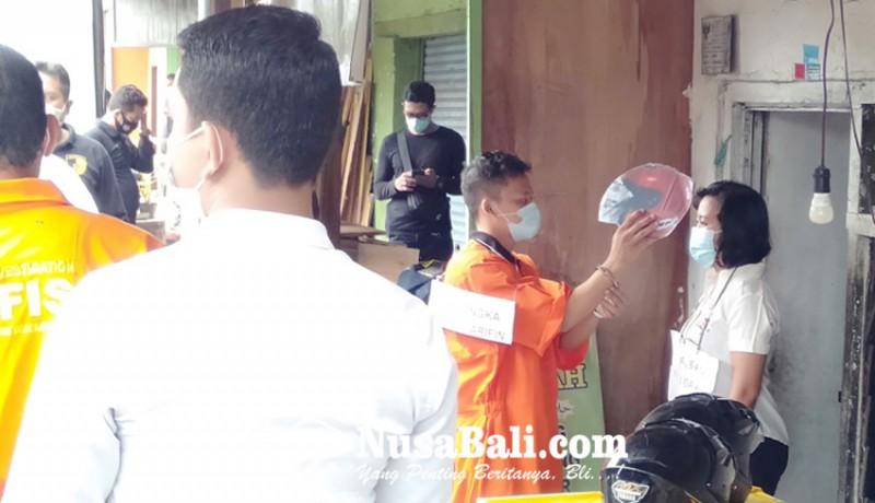 www.nusabali.com-rekonstruksi-kasus-pembunuhan-wanita-dagang-keripik-di-sanur-kauh
