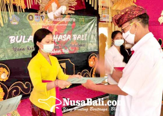 Nusabali.com - rayakan-bulan-bahasa-bali-sman-1-amlapura-gelar-5-wimbakara