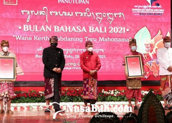 Nusabali.com - gubernur-koster-tutup-bulan-bahasa-bali-2021